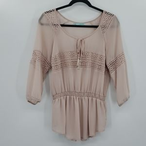 Maurices Sheer Lace Boho Top